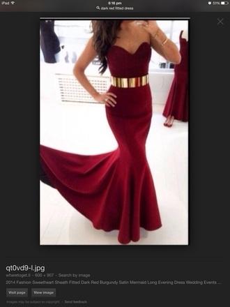 dress red dress long dress burgandy dress