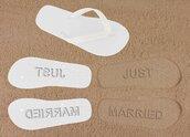 shoes,married,wedding,bridal,bride,gift ideas,honeymoon,beach,summer,holidays,flip-flops