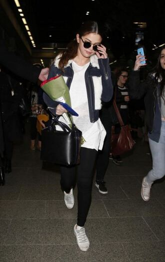 sweater selena gomez jacket sneakers pants shoes