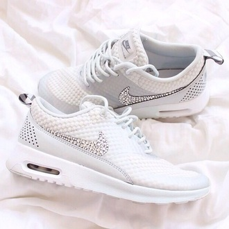 shoes nike jewels white sparkle