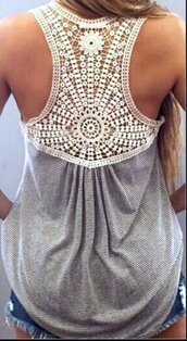 top,crochet,lace,embroidered,hollowout,floral lace,crochet tank top,racerback,racerback top,sexy s,exy top,sexy top,fashion,fashion top,grey,stripes,long tank,oversized tank,sleeveless,summer,spring,jeanstop,jeans top,high waist jeans top,casual,casual top,sexy casual top,musthave,preppy top,tumblr,tumblr top,tumblr preppy,casual preppy,women,cuts,musthave top,street,streetwear,streetstyle,fashion street,urban,beach,holidays,fashion toast,fashion vibe,fashionista,fashion is a playground,fashion coolture,fashionista preppy,girly,gray grey,grey top,grey tank top,gray tank top,girly wishlist,lovely,pretty,moraki,blouse,tank top,casual street fashion