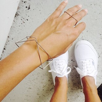 jewels bracelets geometric double classy