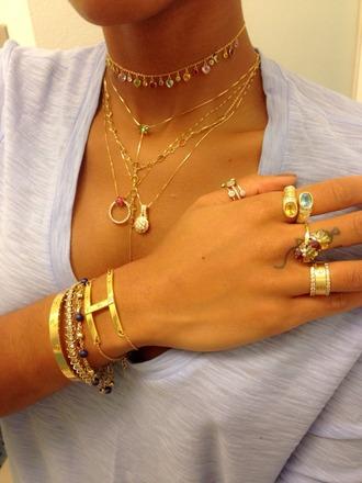 jewels jewelry bracelets stacked bracelets gold