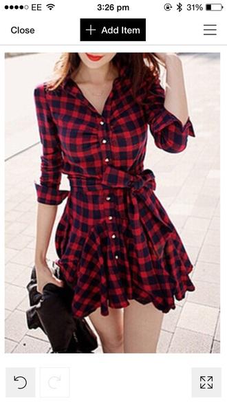 dress red dress red and black dress black dress tartan dress plaid dress