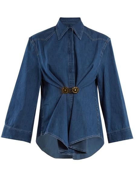 Mm6 Maison Margiela shirt denim shirt denim cotton blue top