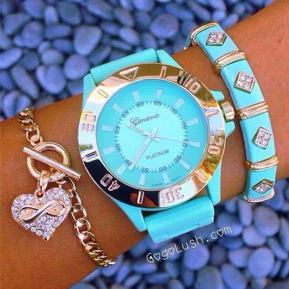 watch jewels turquoise stacked bracelets geneva watch and bracelets tiffany and co