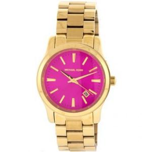 Michael Kors Pink and Gold Runway MK5801 Watch - Sale