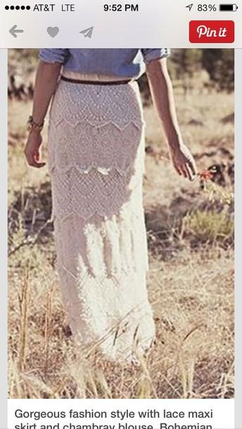 skirt lace maxi skirt