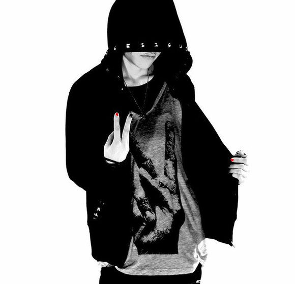 hoodie clothes jacket singer nano guys girl japanese fashion