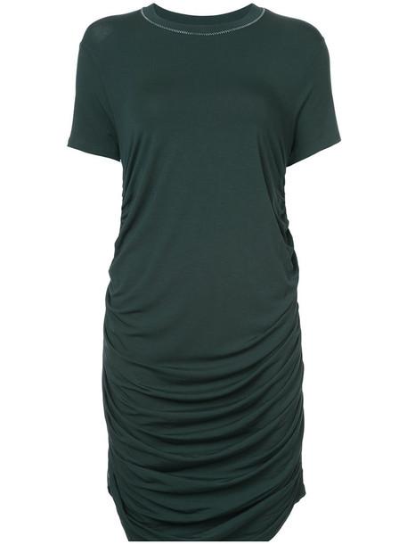 Carven dress shirt dress t-shirt dress women spandex green