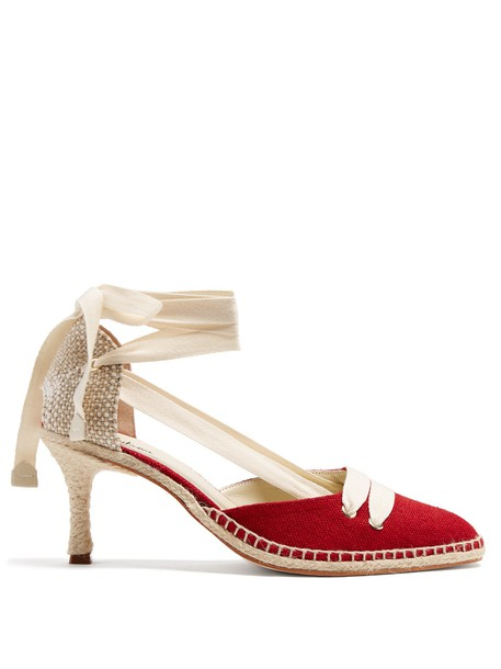 CASTAÑER pumps white red shoes