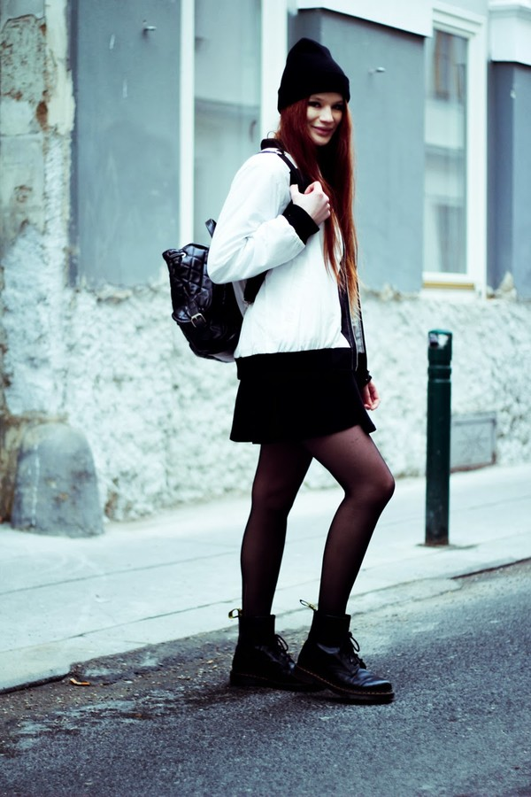 a pretty pass jacket skirt t-shirt hat shoes