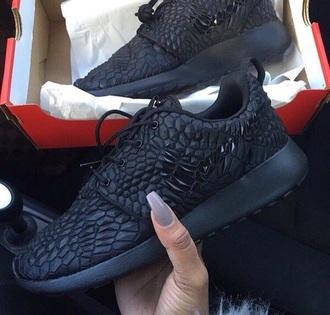 shoes black shoes black roshe runs nike shoes
