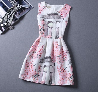 dress pink dress pink pink by victorias secret printed dress vest the cherry blossom girl