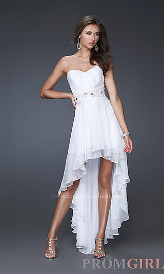 High-Low Prom Dresses, La Femme Dresses for Prom 2013- PromGirl