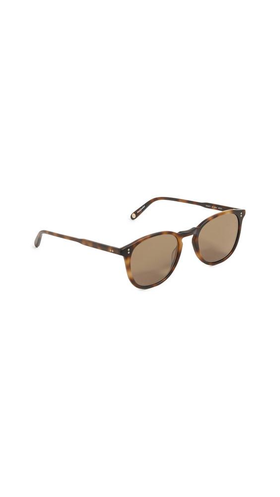 GARRETT LEIGHT Kinney 49 Sunglasses in brown