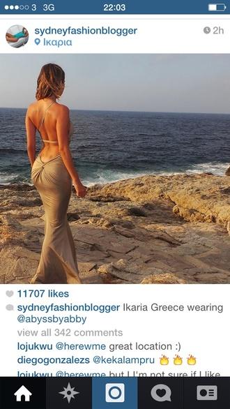 metallic dress sydney fashion blogger