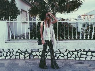 mexiquer blogger sunglasses top pants