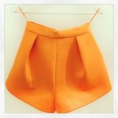 orange shorts,summer shorts,sale,High waisted shorts,cameo the label,orange