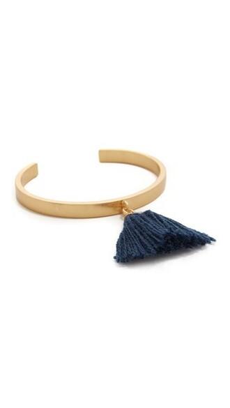 cuff tassel cuff bracelet blue jewels