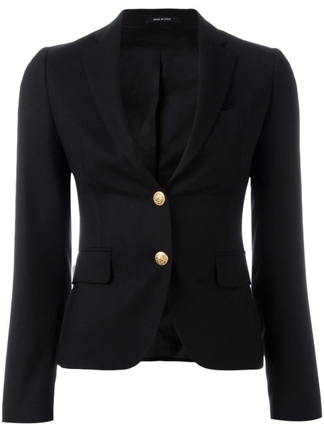 TAGLIATORE blazer women classic black wool jacket