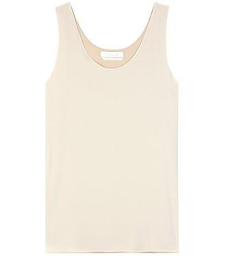 tank top top silk white