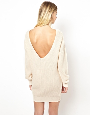 Daisy Street | Daisy Street Fisherman Knit Sweater Dress with V Back at ASOS
