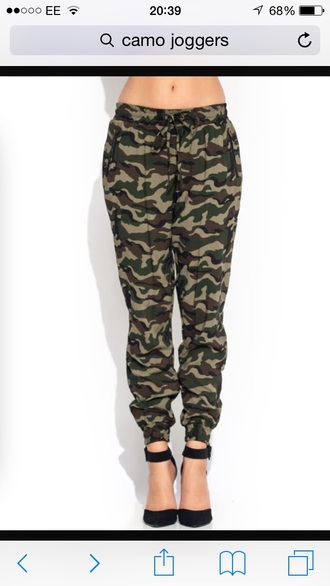 leggings army green camouflage joggers pants