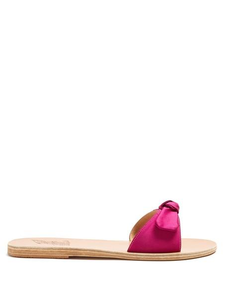 Ancient Greek Sandals leather satin shoes