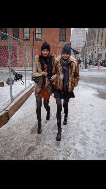 coat brown coat fur coat