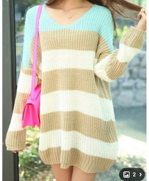 sweater long sleeves stripes
