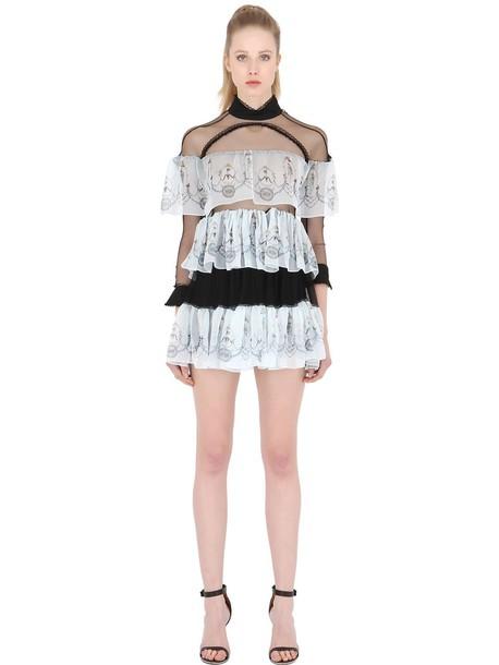 DAGDA dress tulle dress sheer black