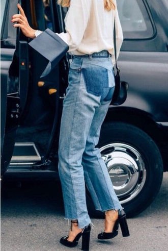 always judging blogger style and minimalism cropped jeans mom jeans white blouse black bag black heels thick heel le fashion image jeans
