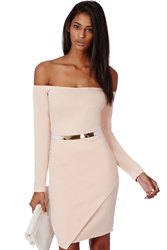 dress slash neck bodycon dress bodycon slimming slimming dress women solid color long sleeves slash neck dress elegant dress stylish ladylike