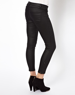 Vila | Vila Leather Look Quilted Detail Pants at ASOS