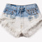 Kirsten vintage dyed studded shorts | runwaydreamz