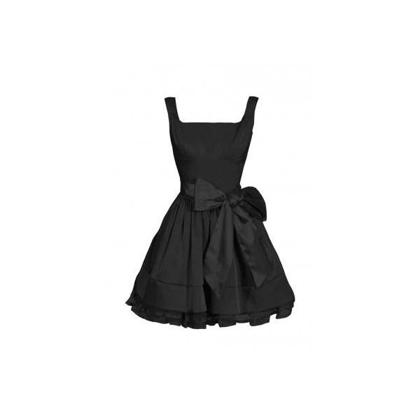Satin Bow Prom Dress Black - Dress from Glebe UK - Polyvore