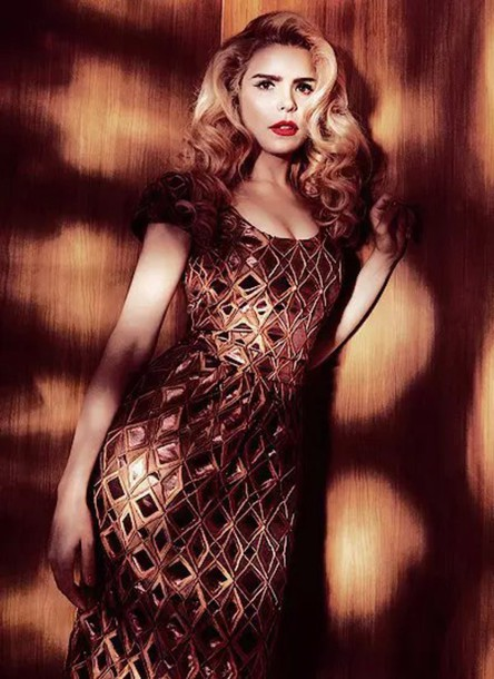 dress paloma faith gold brown elegant dress