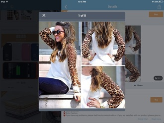 sweater cheetah white sweater
