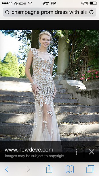 dress beautiful prom dress illusion skirt illusion neckline