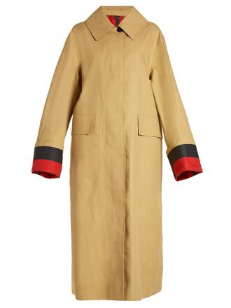 coat trench coat oversized beige