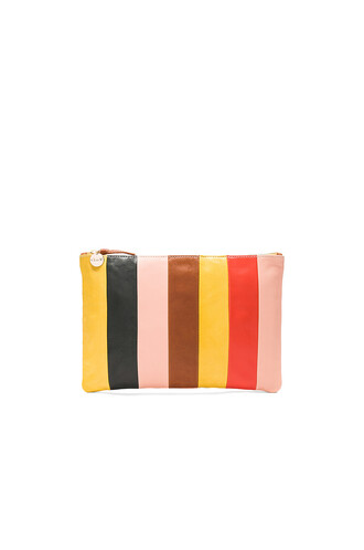 patchwork clutch yellow bag