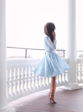 skirt tumblr light blue midi skirt top lace top crop tops matching set sandals sandal heels high heel sandals