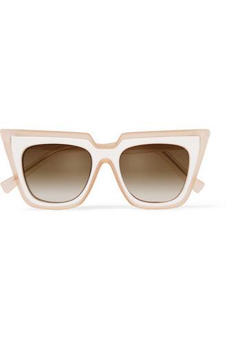 sunglasses cat eye pink sunglasses self portrait
