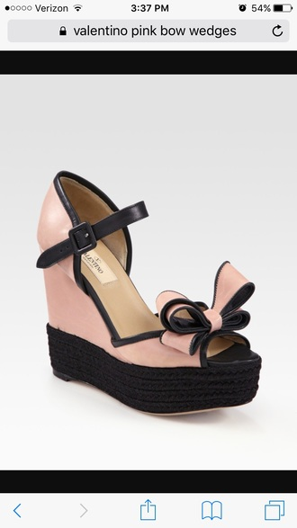 shoes valentino wedges valentino pink bow wedges valentino bow wedges valentino pink wedges valentino pink and black bow wedges
