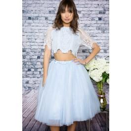 Baby blue tulle skirt