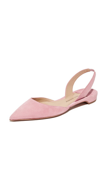 Paul Andrew Rhea Suede Flats - Rose