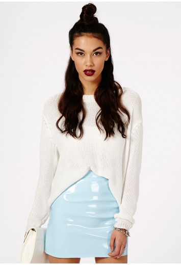 Missguided - Nagsia PVC Mini Skirt In Baby Blue