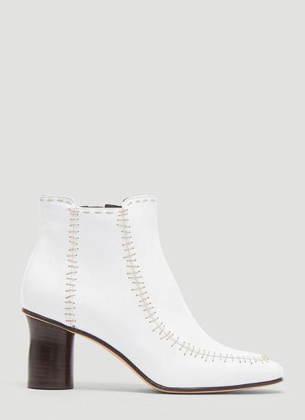 JW Anderson Stitched Ankle Boot in White size EU - 40