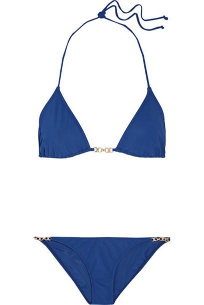 bikini triangle bikini triangle navy swimwear